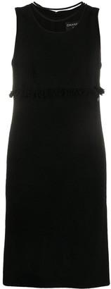 Chanel Pre Owned Fringe Trim Dress