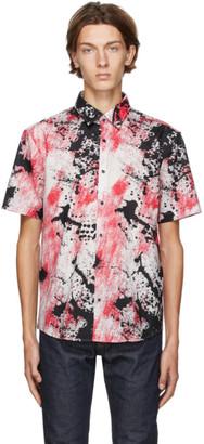 HUGO BOSS Red and Black Ermino Short Sleeve Shirt