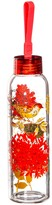 Sketch Floral 18 oz. Double Sided Decal Glass Water Bottle