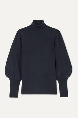 Cefinn Eva Ribbed Wool Turtleneck Sweater - Midnight blue