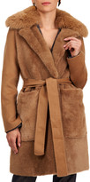 Yves Salomon Shearling Lamb Stroller Coat w/ Fur And Cashmere