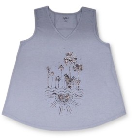 Style&Co. Style & Co Petite Graphic Tank Top, Created for Macy's