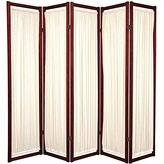 Oriental Furniture Modern Furniture, 6-Feet Helsinki Fabric Japanese Screen Room Divider