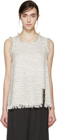 Lanvin Beige Tweed Tank Top