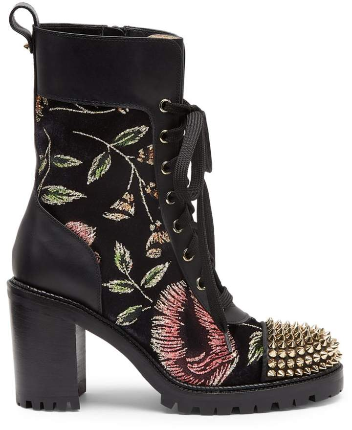 new arrival 51cd0 57cc3 TS Croc Floral Studded Hiking Boots