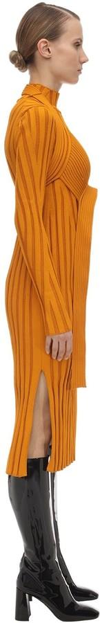 Thumbnail for your product : Proenza Schouler Viscose Blend Rib Knit Midi Dress