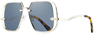 Karen Walker Hypatia Metal Square Sunglasses