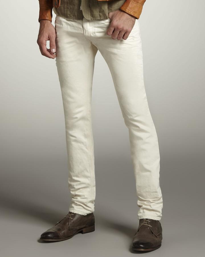 Diesel Thanaz Skinny White Jeans