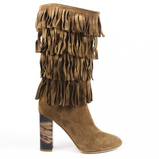 Burberry Brown Suede Boots