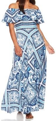 Brinker & Eliza Women's Petite Scarf Print Maxi Dress (Regular & Petite)