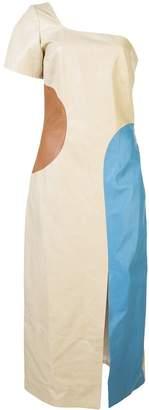 Maryam Nassir Zadeh cold-shoulder leather dress