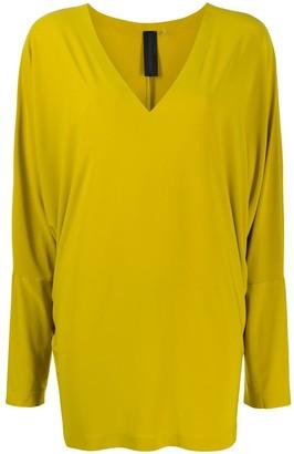 Norma Kamali longline V-neck jumper