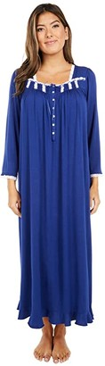 Eileen West Modal Spandex Jersey Long Sleeve Ballet Nightgown (Midnight) Women's Pajama