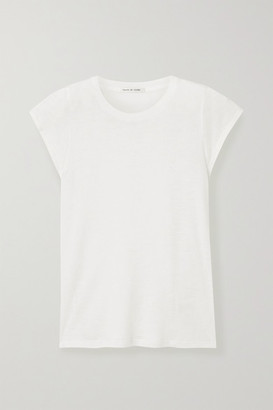 FRANCES DE LOURDES Garcon Slub Cashmere And Silk-blend T-shirt - Ivory