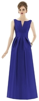 Alfred Sung D655 Bridesmaid Dress in Electric Blue