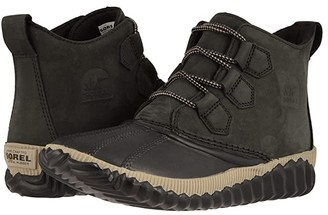 Sorel Out 'N Abouttm Plus (Black Full Grain Leather) Women's Cold Weather Boots