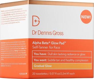 Dr. Dennis Gross Skincare Alpha Beta Gradual Glow Pad Self-Tanner for Face
