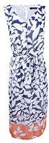 Nine West Women's Sleeveless Chiffon Midi Dress with Self Sash