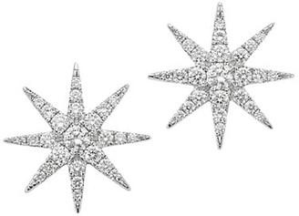 Robinson Pelham Tsar Star 14K White Gold & Diamond Stud Earrings