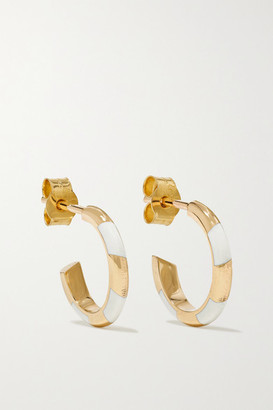 Alice Cicolini Memphis Candy 14-karat Gold And Enamel Hoop Earrings - one size