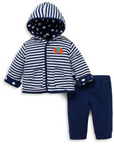Little Me Striped Hooded Jacket and Leggings Set