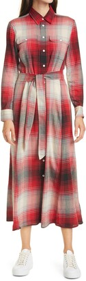 Polo Ralph Lauren Plaid Long Sleeve Shirtdress