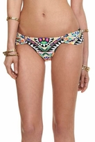 Mara Hoffman Ruched Side Bikini Bottom in Cosmic Fountain Black