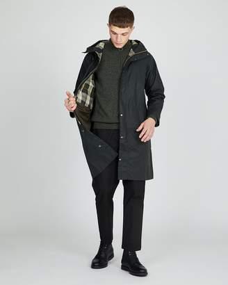 Barbour Hooded Hunting Wax Jacket Sage