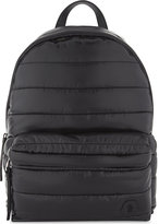 Moncler Mens Black Embellished Iconic New George Quilted Backpack