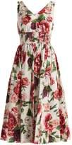 Dolce & Gabbana Rose and peony-print cotton poplin dress