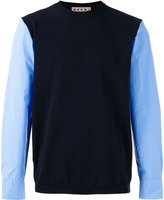Marni sweater with shirt sleeves - men - Cotton - 50