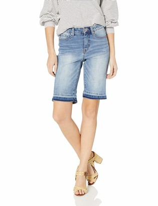 Tribal Women's Distressed Short with Roll Cuff
