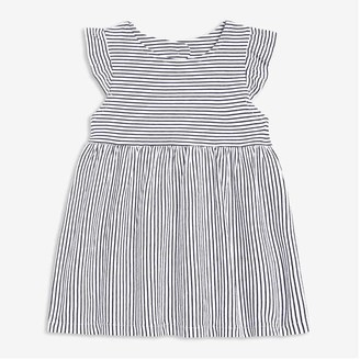 Joe Fresh Baby Girls' Open Back Dress, Dark Navy (Size 6-12)