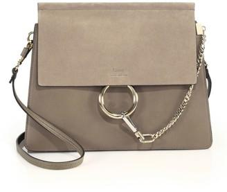 Chloé Medium Faye Leather & Suede Shoulder Bag
