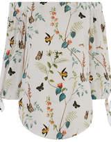 Oasis Fitzwilliam Tie Sleeve Bardot