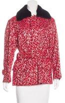 Marni Mink Fur-Trimmed Tweed Coat w/ Tags