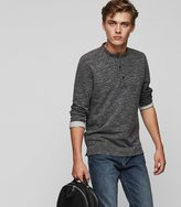 Reiss Bassen - Marl Henley Top in Grey, Mens