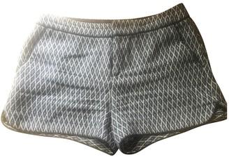 Comptoir des Cotonniers Blue Cotton Shorts for Women