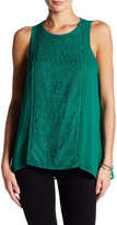 Lucky Brand Pop Color Embroidered Tank