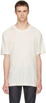 Alexander Wang Ivory Silk Slub T-Shirt