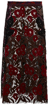 Marc Jacobs Lily Guipure Fan And Feather Sequin Skirt