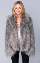 MUMU Park Ave Jacket ~ Silver Fox Faux Fur