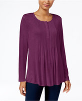 Style&Co. Style & Co. Petite Pleated Top, Only at Macy's