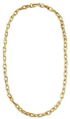 "Ashley Pittman Hammered Bronze Chain Necklace, 36""L"