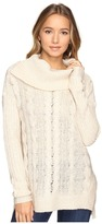 Brigitte Bailey Aislyn Cable Knit Cowl Neck Sweater
