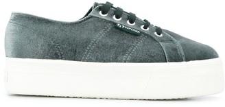 Superga velvet chunky sole sneakers