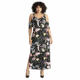 Rachel Roy Women's Plus Size Gaia Printed Jersey Maxi Dress
