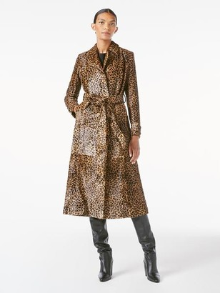 Frame Leopard Pony Hair Trench