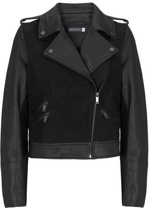 Mint Velvet Black Nubuck Biker Jacket