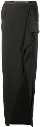 Rick Owens Open-Front Ruffled Skirt